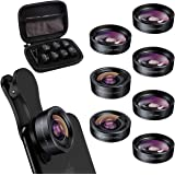 Keywing iPhone Lens Kit Fisheye Phone Lens Upgraded 7in1 Kits, Telephoto Lens+198° Fisheye +120 Wide Angle + 20X Macro Lens +
