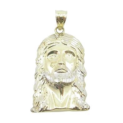 Mens 10k solid yellow gold jesus head pendant length 157 inches mens 10k solid yellow gold jesus head pendant length 157 inches width 205mm aloadofball Gallery