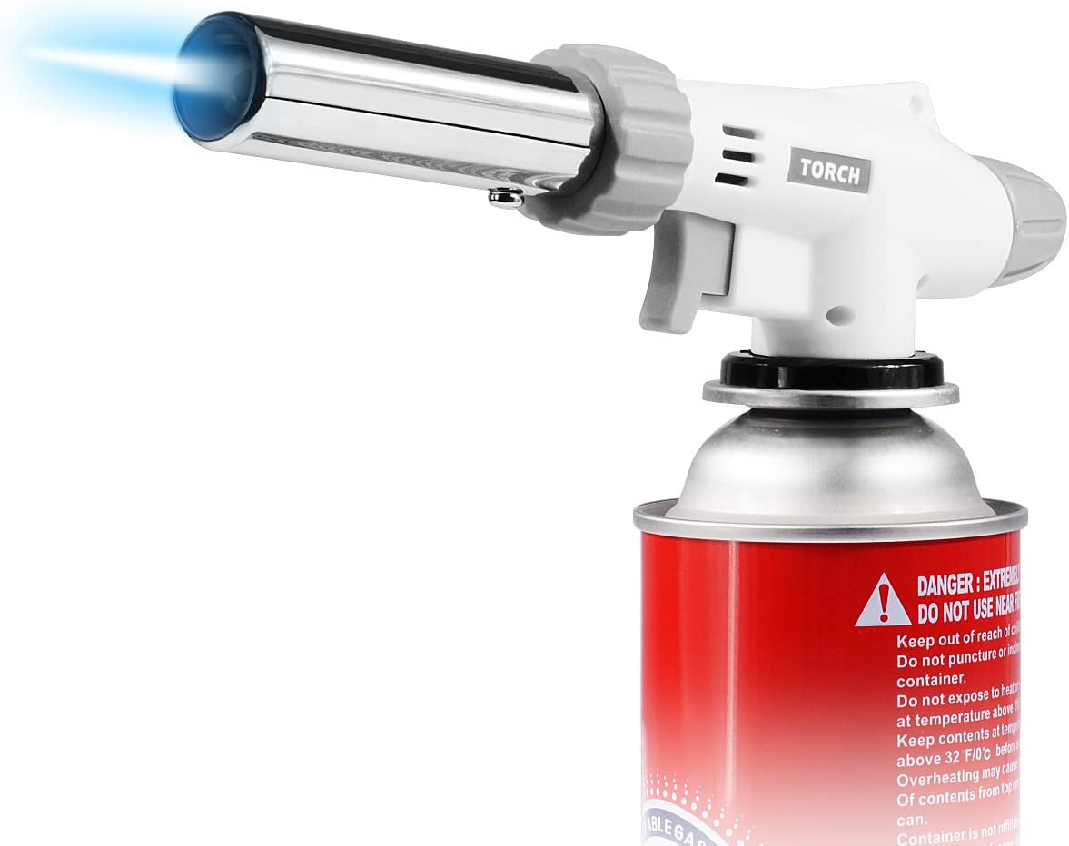 IREGRO Butane Torch Professional Culinary Torch with Safety Lock /& Adjustabl...