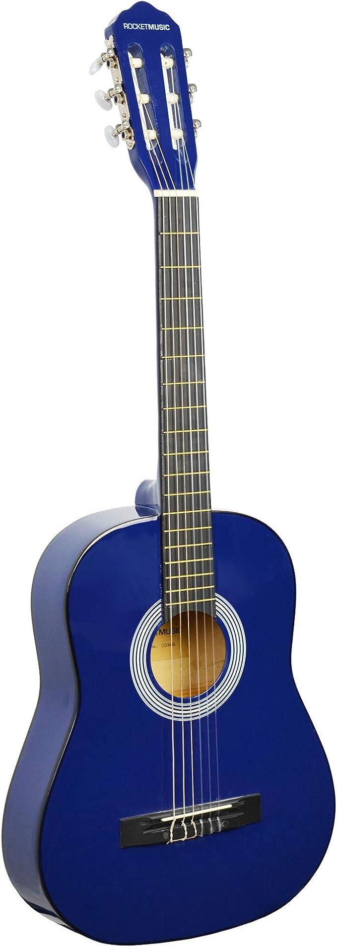 Rocket CG34BL - Guitarra clásica española de tamaño 3/4: Amazon.es ...