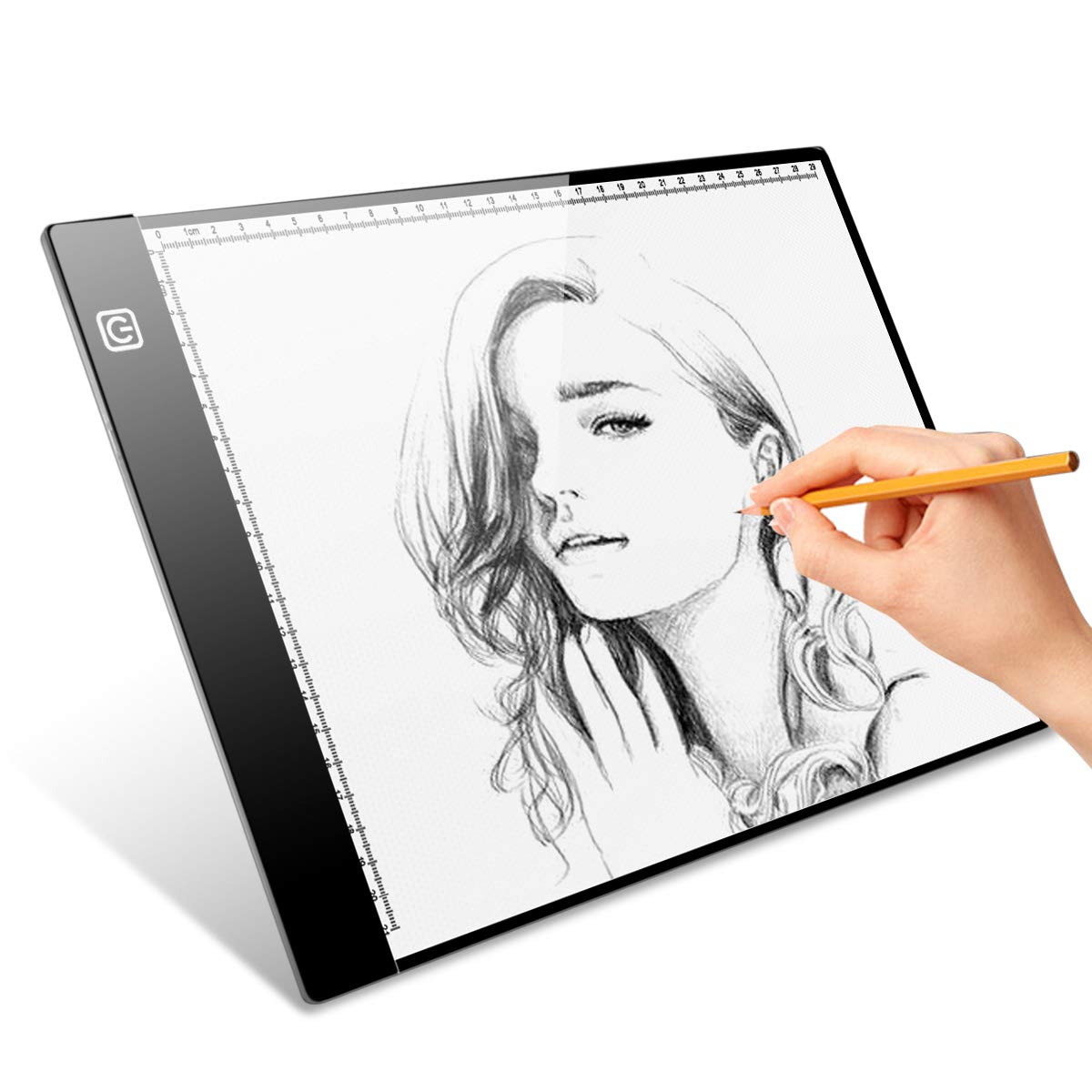 Tracing Light pad, A4 Ultra-Thin Portable LED Light Box Light-up Tracing Pad with Stepless Adjustable Brightness Pad, Coloring Board for Kids, Gift, Toys for Boys and Girls, Ages 4, 5, 6, 7, 8, 9,10