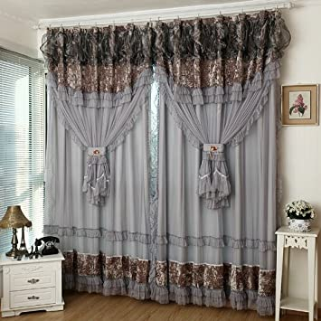 FADFAY Home TextileCustom Made CurtainsLuxury Jacquard CurtainsFancy CurtainModern Living Room Curtains2 Panels Amazoncouk Kitchen