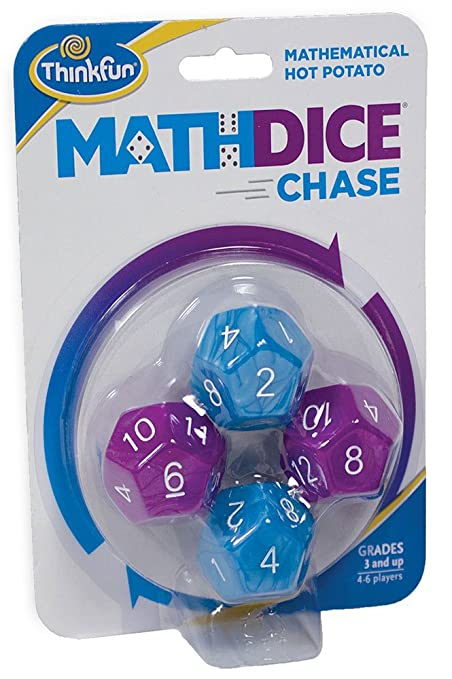 Amazon.com: Think Fun Math Dice Chase - The Fun Game of Mathematical ...
