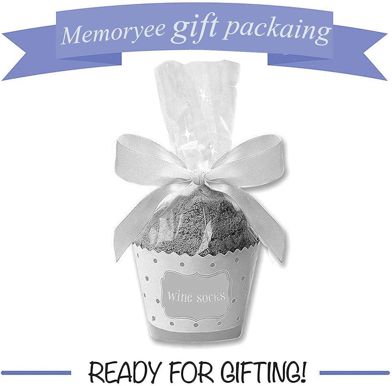 """Memoryee Funny Socks /""""If You Can Read This Bring Me Some Wine/""""mit Cupcake-Geschenkverpackung Thermo-Fuzzy-Baumwolle Perfektes Geschenk Neuheit Romantisches Weihnachtsgeschenk"""