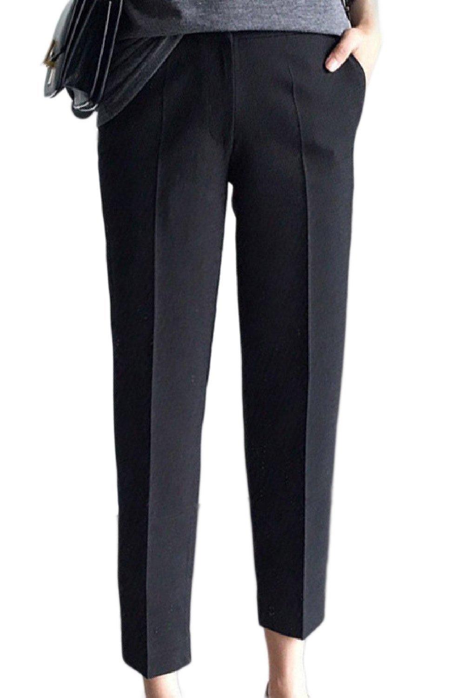 Fanvans Womens Maternity Dress Pants Bootcut Office Ankle Drawers Black M