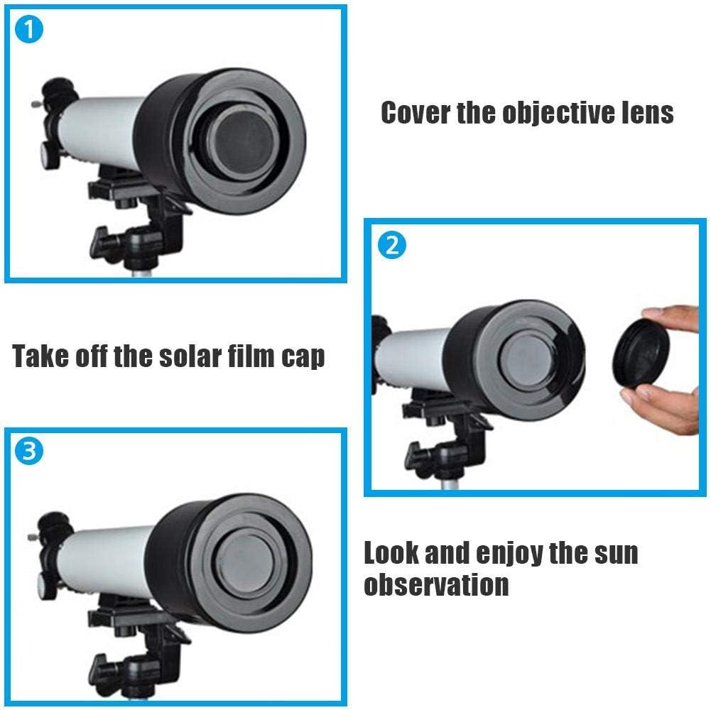Parluna Teleskop-Objektivdeckel Sonnenfilter leichtes schwarzes professionelles PVC zur Beobachtung der Sonnenfinsternis Beobachtung Anderer astronomischer Szenen Beobachtung von Sonnenflecken