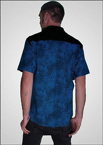 33133df4d Image Unavailable. Image not available for. Color: Blue Velvet - Men's  Casual Button Down Shirt