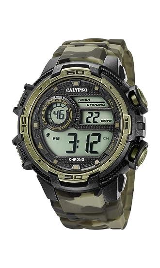 Calypso Reloj Digital para Hombre de Cuarzo con Correa en Plástico K5723/6: Calypso: Amazon.es: Relojes
