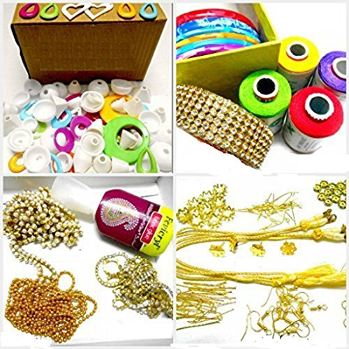 GOELX AM Silk Thread Jewelery-Making Fully Loaded Box With All Accessories