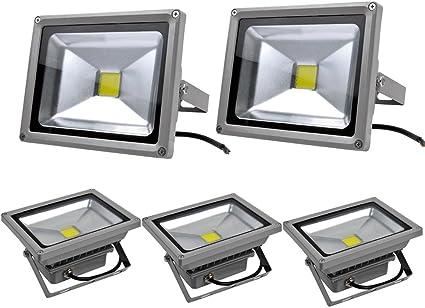 Leetop 5pcs Focos LED Exterior 20W,Proyector Reflector de Pared ...