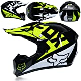 WLBRIGHT Adulto Motocross Casco Motocicleta Todoterreno Casco Fox ... d0aab98b406