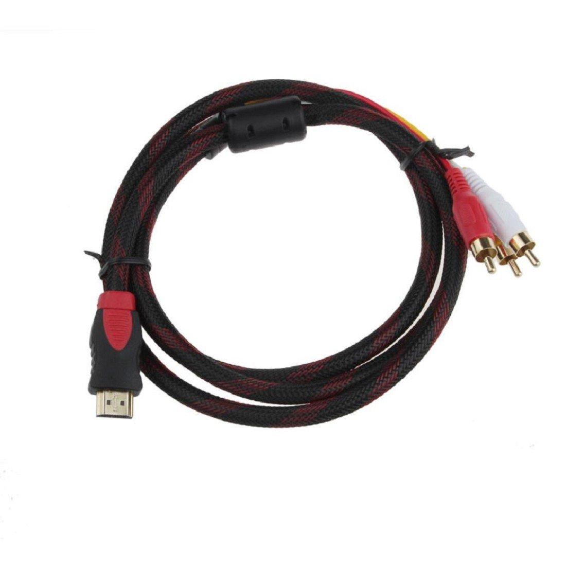 Tongshi HDMI de alta calidad a 3 RCA 1.5m adaptador masculino del ...