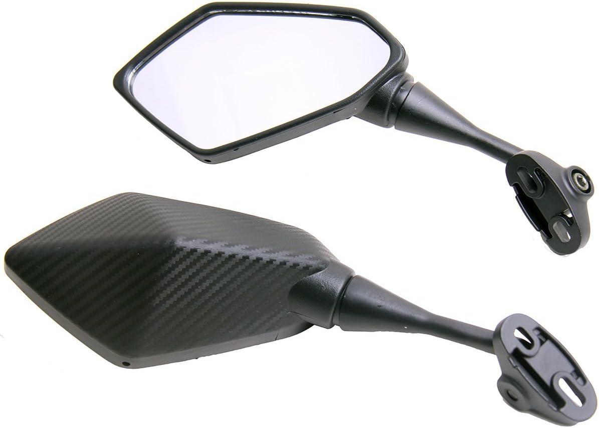 Amazon.com: One Pair Carbon Fiber look Sport Bike Mirrors ...