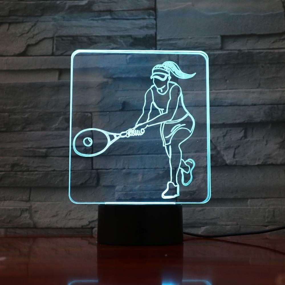 wangZJ 3d Luces de la noche para niños Lámpara de la noche de los niños / 3d Ilusión óptica Lámpara de mesa/Ilusión 3d Lámpara llevada/Tenis de las mujeres
