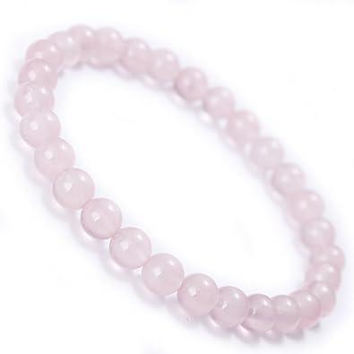 553e175019370 Amazon.com: MOON FAIRY Rose Quartz Beaded Bracelet : Sakura Rain ...