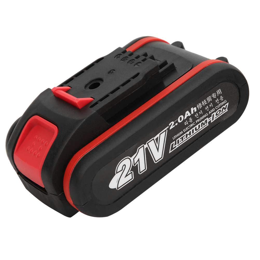 1 Battery 1 Adapter Tijeras de podar Cortadora de ramas el/éctrica de 21V Tijeras de podar de bater/ía de litio Herramienta de poda inal/ámbrica 110~240V Tijeras de podar recargables