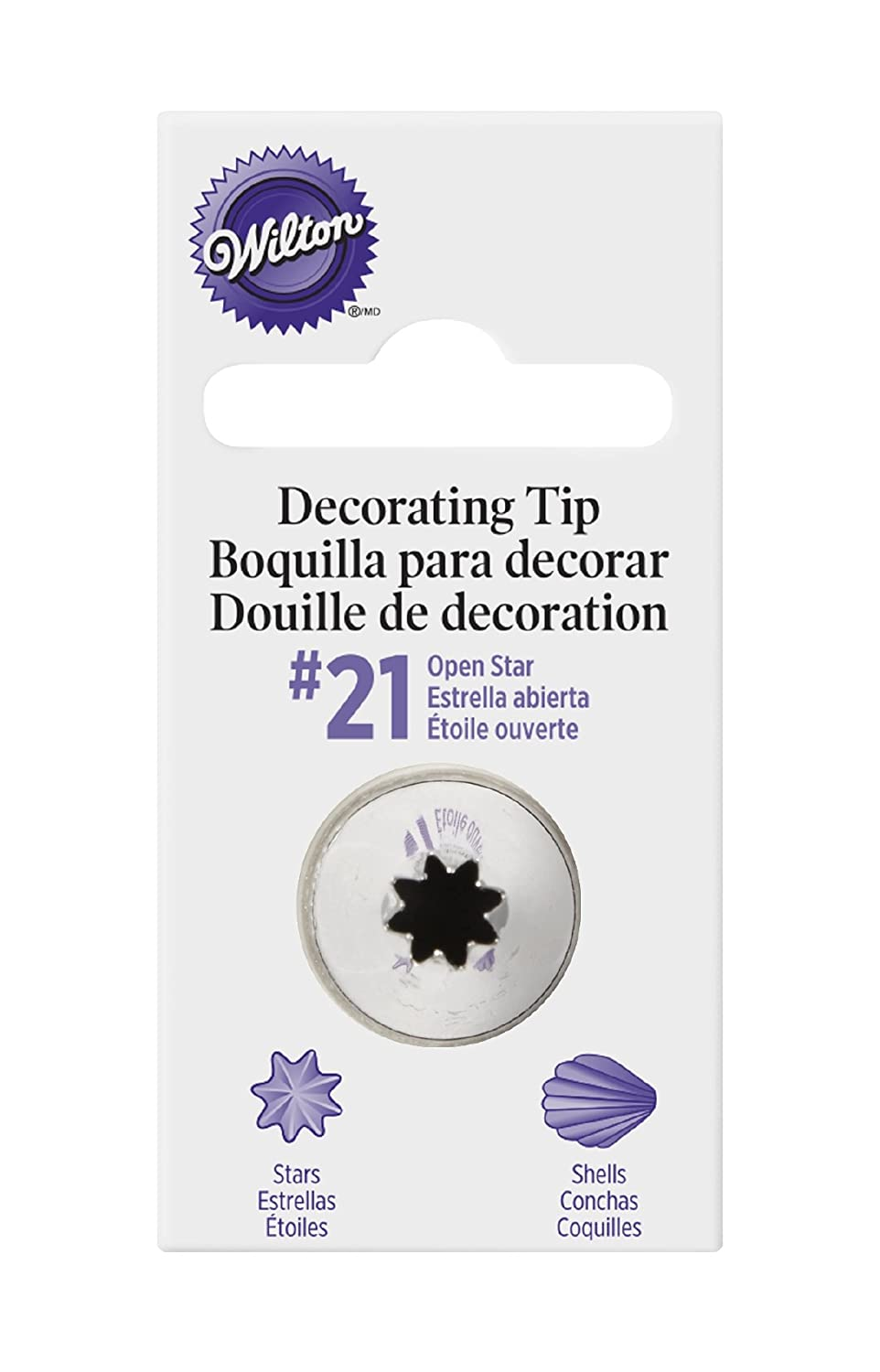 Wilton Decorating Tip, No.21 Star 418-21