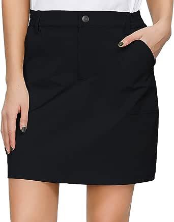 Libin Women's Outdoor Skort Golf Skort Casual Skort Skirt with 4 Zip Pockets, UPF 50+, Quick Dry, Stretch