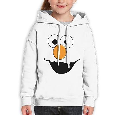 Yig45dsgr Youth Cartoon Smile Leisure Sports Hooded Sweater White Medium
