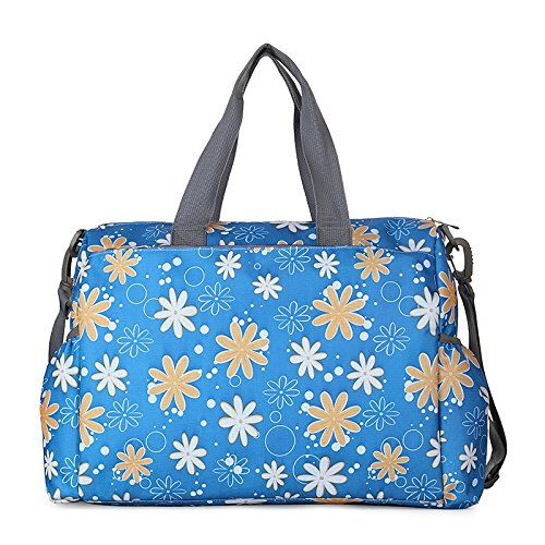 Fashion Multi-Purpose Diaper Tote Bags Baby Diaper Nappy Bag Large Capacity Mummy Bag (Blue-02)