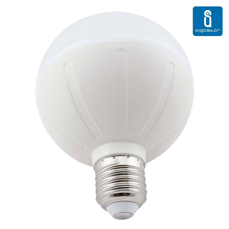 Aigostar - Pack de 2 Bombillas LED G95 tipo globo de 20 watios, casquillo gordo (E27), 1600 lumen y luz calida (3000K)[Clase de eficiencia energética A]: ...