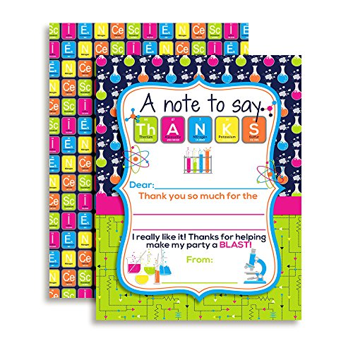 Science Party Themed Thank You Notes for Kids, Ten 4