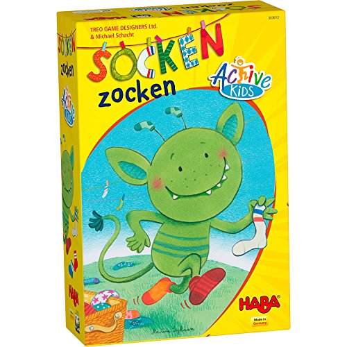 HABA Socken Zocken Active Kids - A monstrously Quick Movement Game for Ages 5+ (Made in Germany) by HABA