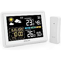 BACKTURE Estacion Meteorologica, Termometros Higrometro Digitales Inalámbrica Interior con Sensor Exterior conPrevisión…