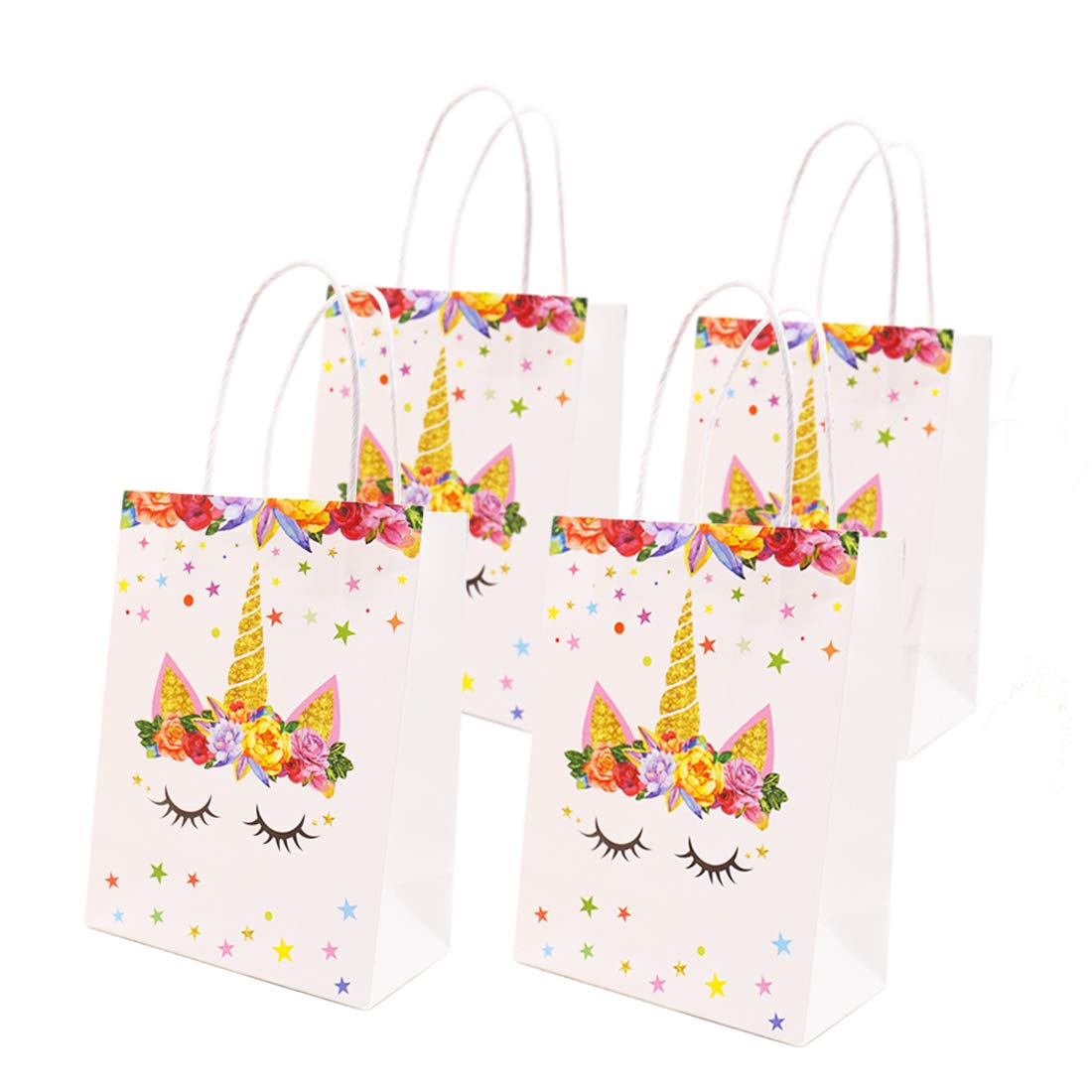 Yaaaaasss! Unicorn Gift Bags Craft Paper Treat Bags for Kids Party Supplies Pack of 12