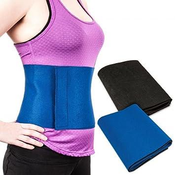 Sweat Belt Premium Waist Trimmer, Sweat Waist Trimmer Fat Burner Belly  Tummy Yoga Wrap Black Exercise Body Slimming Belt 3 for Men & Women