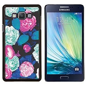 Planetar® ( Modelo verde azul rosado de la begonia ) Samsung Galaxy A7 A7000 Fundas Cover Cubre Hard Case Cover