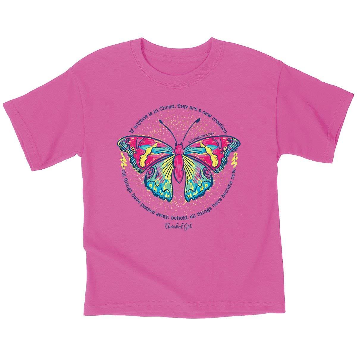 Cherished Girl Kids New Creation T-Shirt – Safety Pink –