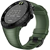 Fintie Suunto Core Watch Band, Rubber Accessory Strap Wrist Sport Bands w/Metal Clasp Compatible with Suunto Core Smartwatch, Olive
