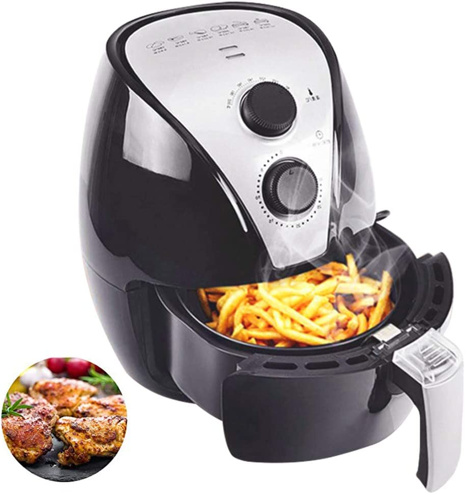LUOER Air Fryer, 1350W Fast Cook Air Fryers Oven, with Separable Fried Basket and Recipe, Smart Presets, for Fast Healthier Fried Food