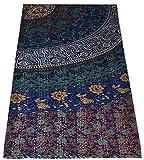 MAVISS HOMES Indian Handmade Floral Printed Queen