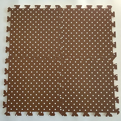 EVA Solid foam puzzle mat with dot pattern used for exercise/yoga size:12″X12″ 3/8″Thick 9PCS/bag
