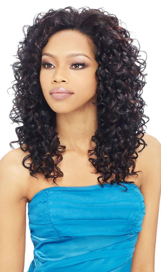 Amazon Outre Synthetic Hair Half Wig Quick Weave Bella Color 1