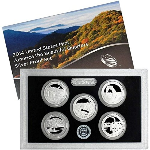 2014 Silver Proof National Park Quarter Set OGP in box - Silver Usa Coin Set