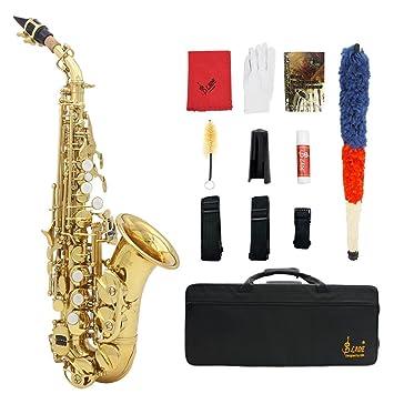 Latón Viento Althorn Lade De Botones Blanca Con Bb Bend Sax Concha Patrón Ammoon Oro Instrumento Labrado Perla Estuche Saxofón Soprano tsxhQrdC