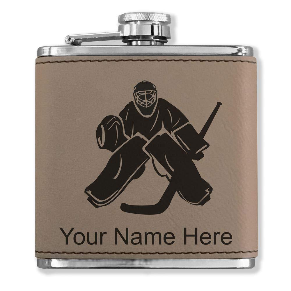上等な フェイクレザーフラスコ – – Hockey Goalie – Goalie Hockey カスタマイズ彫刻Included (ライトブラウン) B07116K2K4, NHKスクエア キャラクター館:7813476f --- a0267596.xsph.ru