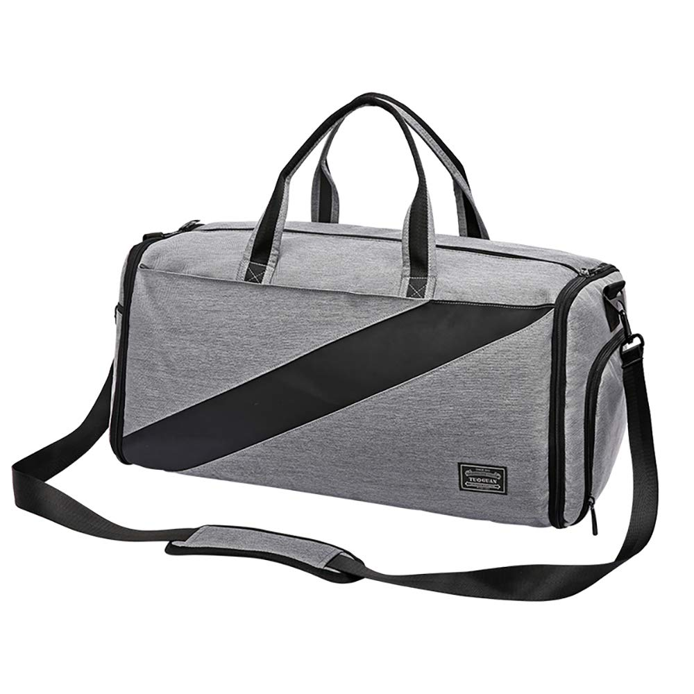 Grey Packable Travel Bag Dry and wet separation luggage bag portable large-capacity travel bag suit fitness bag Sport Bag