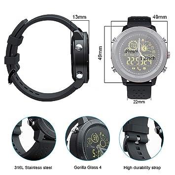 AUOKP Bluetooth Smart Watch para Hombres Reloj Deportivo al ...