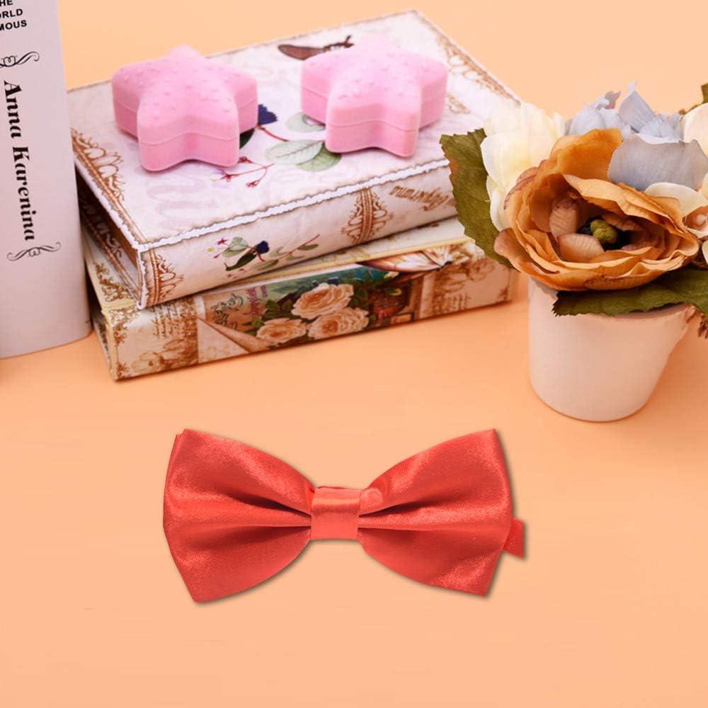 Elegant Pre-Tied Bow Ties Formal Tuxedo Bowtie Shmei Bow Tie Adjustable Length Gift Idea for Men and Boys E