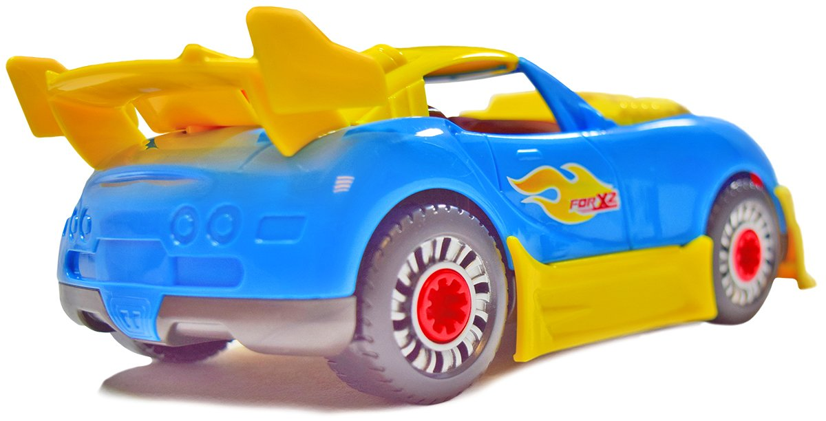 CoolToys Custom Take-A-Part Car Playset – Sports Car with Electric Play Drill and 30 Car Modification Pieces – Motion Activated Lights and Sounds by CoolToys (Image #2)