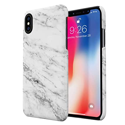 18f3e5783a Image Unavailable. Image not available for. Color: Solid White Original  Marble Print Hard Plastic Phone Case for iPhone Xs Max