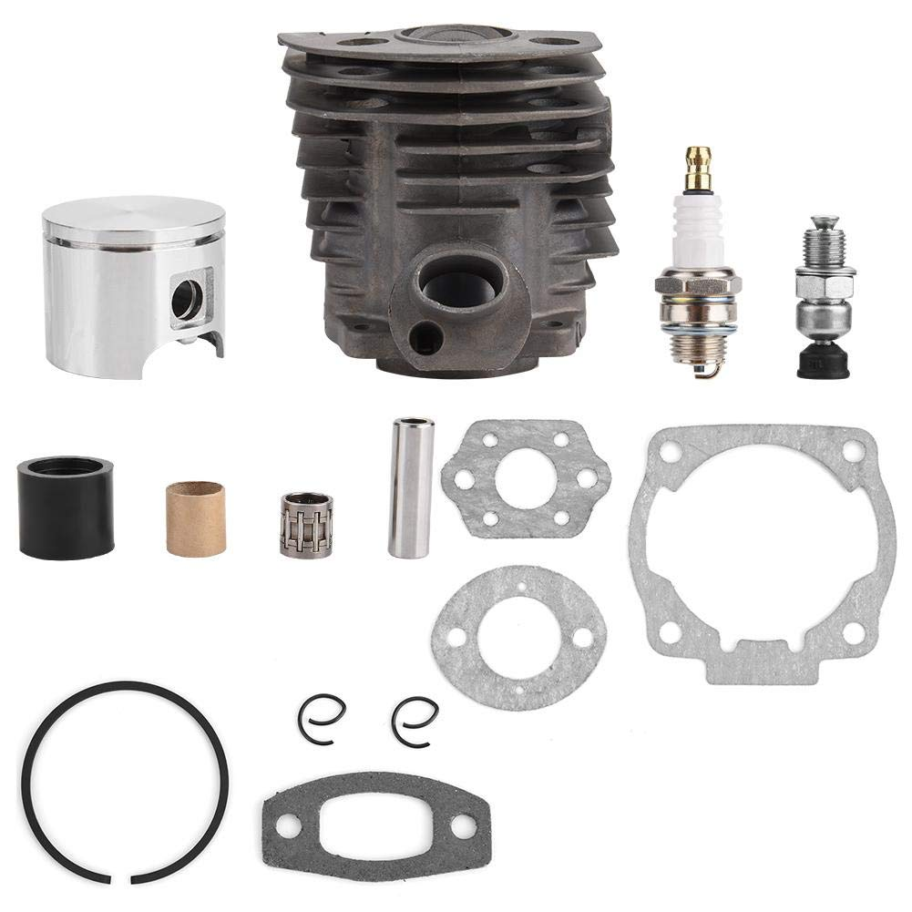 Drgger Cylinder Piston Kit - 1 Set of 46mm Cylinder Piston w/Gasket Kit for Husqvarna 50, 51, 55 Rancher Nikasil Engine.