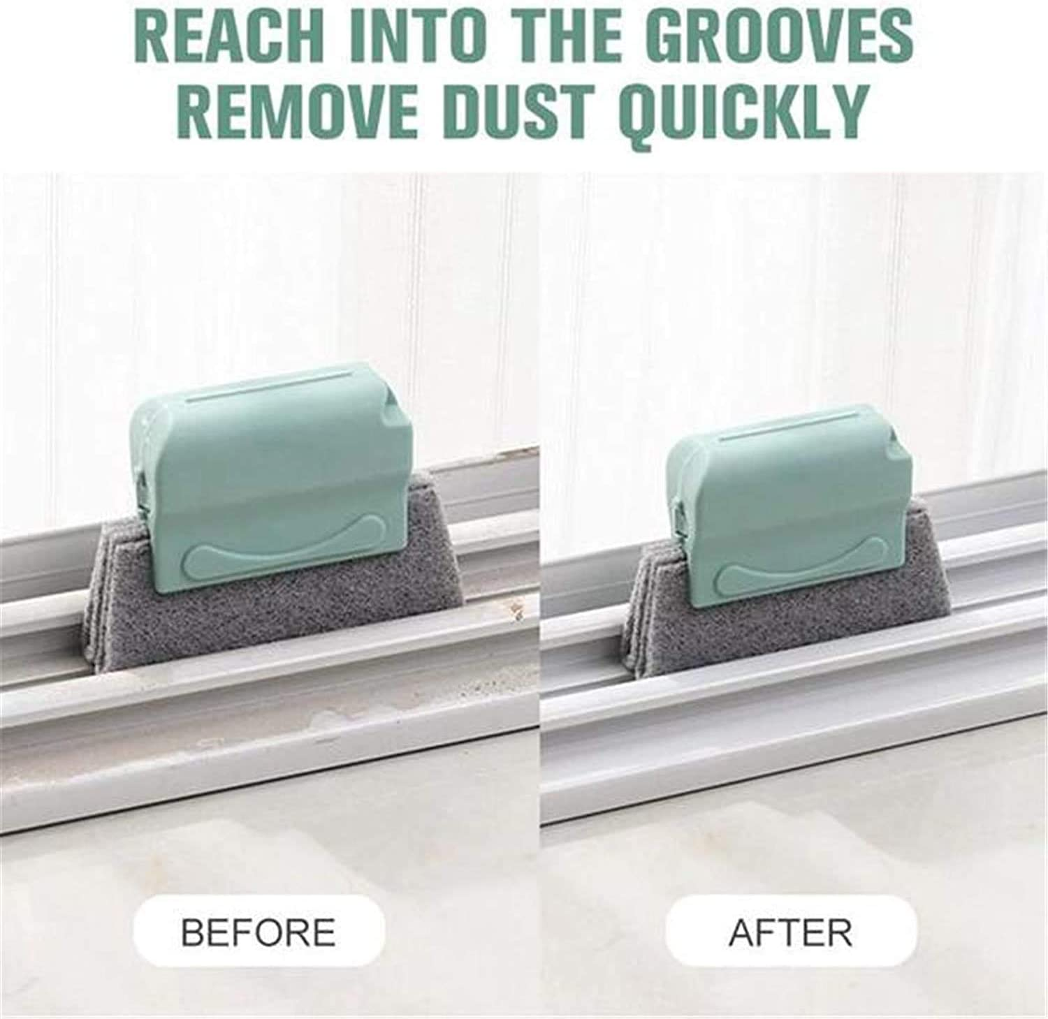 Fruit & Vegetable Tools Creative Window Groove Cleaning Brush Quickly Clean  All Window Slides and Gaps 3pcs Hand-held Crevice Cleaner Tools  Gray+Beige+Green Magic Window Cleaning Brush Kitchen & Dining coxidev.com