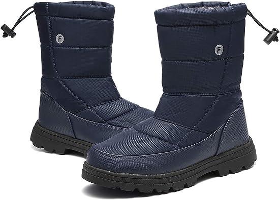 Womens Plush Warm Zip Ankle Booties Fashion Waterproof Frosty Winter Snow Boot