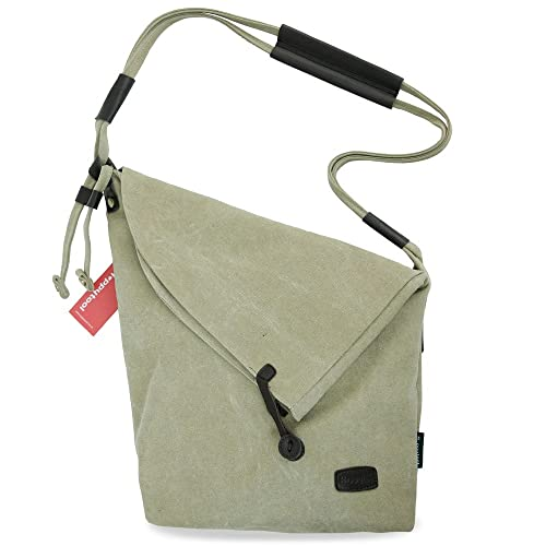 db3992d36129 Happytool Crossbody Messenger Bag canvas bag Handbag Fashion Bag (Khaki)
