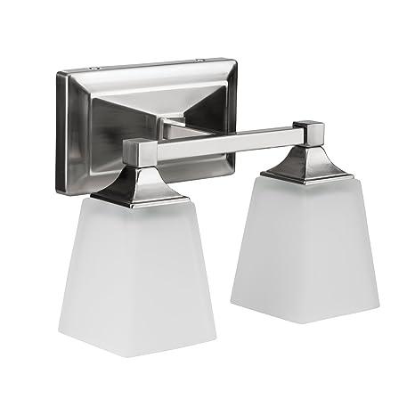 53052b591f28a LB74110 LED 2-Light Bath Vanity light, Antique Brushed Nickel, 15-Watt  (120W Equiv.) 3000K Warm White, 1050 Lumens, 12